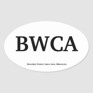 BWCA OVAL STICKER