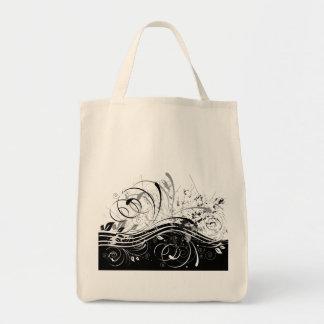 BWgrunge Grocery Tote Bag
