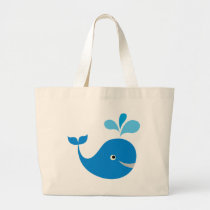 BWhaleAFP10 Large Tote Bag
