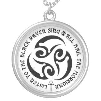 BWM - Morrigan Spiral Chant Custom Necklace