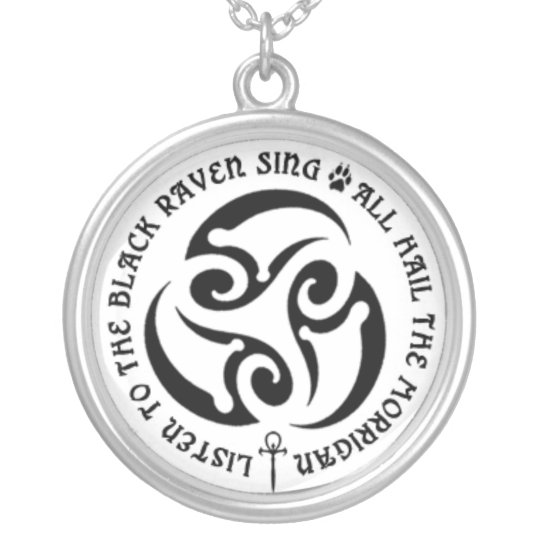 BWM - Morrigan Spiral Chant Silver Plated Necklace
