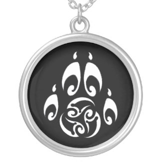 BWM - Morrigan Triskelle Paw Logo dark Custom Necklace