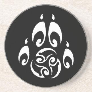 BWM - Tribal Triskelle Paw (dark coaster)