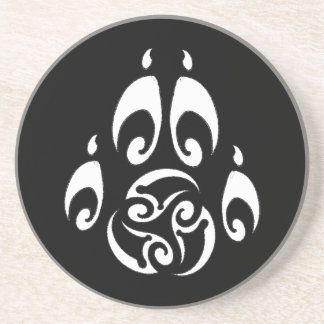 BWM - Tribal Triskelle Paw (dark coaster) Coaster