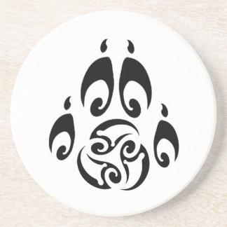 BWM - Tribal Triskelle Paw logo Coaster