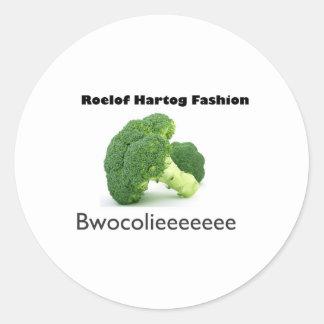 Bwocolieeeeeee Round Sticker
