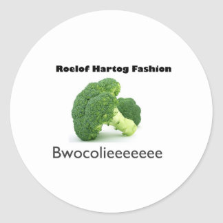 Bwocolieeeeeee Round Stickers