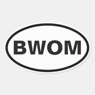 BWOM international sign Oval Sticker