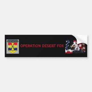 bwood_coatarms, eagle flag 2, OPERATION DESERT FOX Car Bumper Sticker