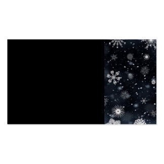 BWSP BLACK WHITE SNOWFLAKES WINTER BACKGROUNDS WAL BUSINESS CARD TEMPLATES