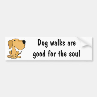 BX- Awesome Yellow Labrador Puppy Dog Bumper Stickers