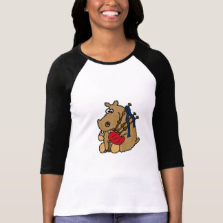BX- Funny Hippo Playing Bagpipes T-shirt