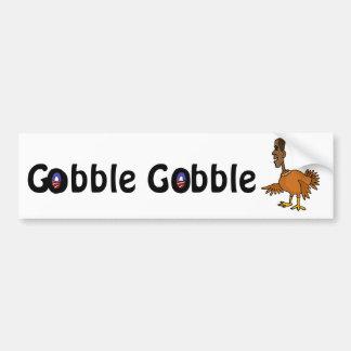 BX- Funny Obama Turkey Cartoon Bumper Sticker
