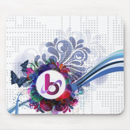 bX Retro Butterfly Design Mouse Pad