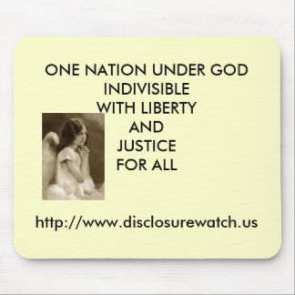bxp39360, ONE NATION UNDER GODINDIVISIBLEWITH L... Mouse Pad