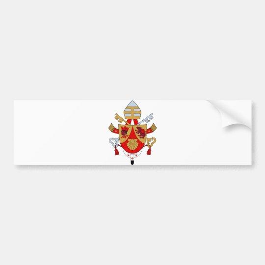 BXVI Pope Coat Emblem Heraldry Official Symbol Bumper Sticker