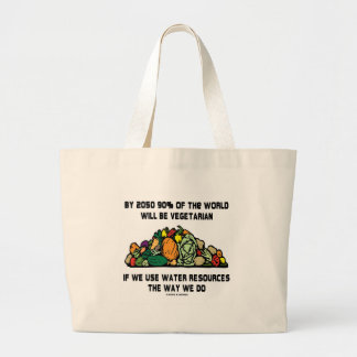 By 2050 90% Of the World Will Be Vegetarian Canvas Bags