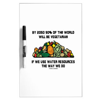 By 2050 90% Of the World Will Be Vegetarian Dry-Erase Whiteboards