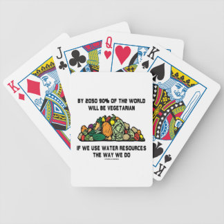 By 2050 90 Of the World Will Be Vegetarian Bicycle Poker Cards