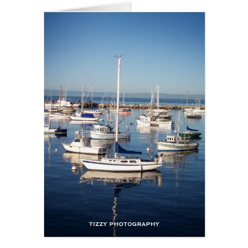 By a dock in the bay, TIZZY PHOTOGRAPHY Stationery Note Card