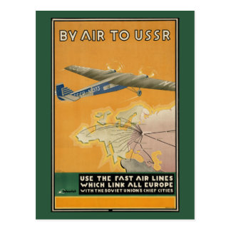 By Air to the USSR Postcard