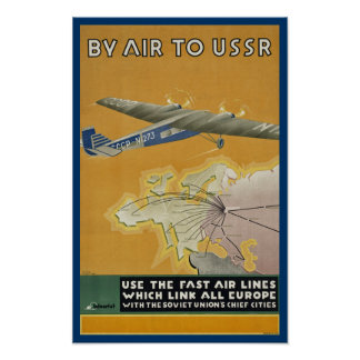 By Air to USSR Print