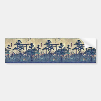 by Ando, Hiroshige Ukiyo-e. Bumper Stickers