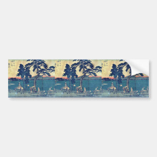 by Ando, Hiroshige Ukiyo-e. Bumper Sticker