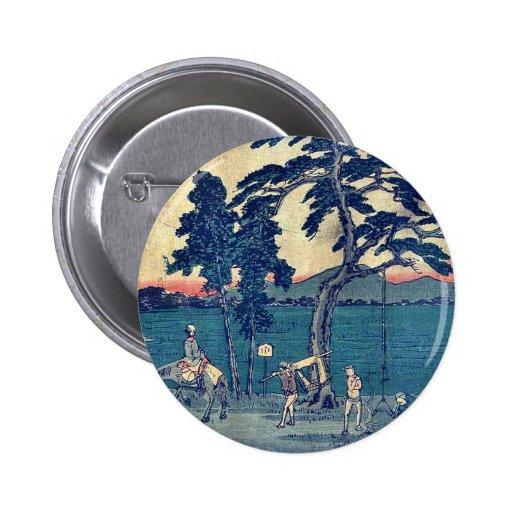 by Ando, Hiroshige Ukiyo-e. Buttons