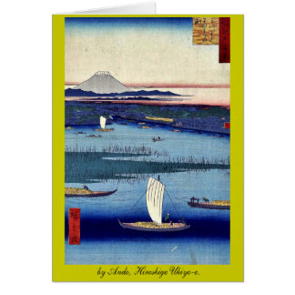 by Ando, Hiroshige Ukiyo-e Stationery Note Card