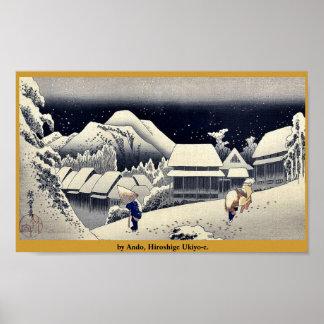 by Ando, Hiroshige Ukiyo-e. Poster