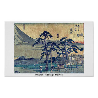 by Ando, Hiroshige Ukiyo-e. Posters
