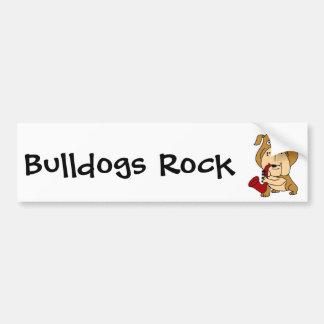 BY- Bulldog Playing the Saxophone Car Bumper Sticker