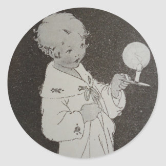 By Candlelight Classic Round Sticker