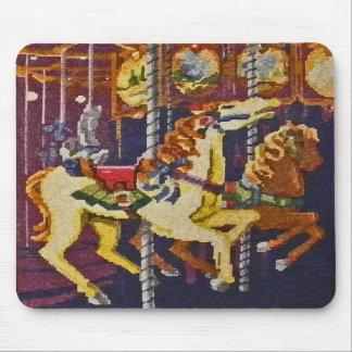 BY- Carousel Horses Mousepad