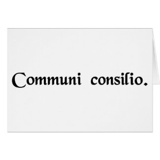 By common consent card