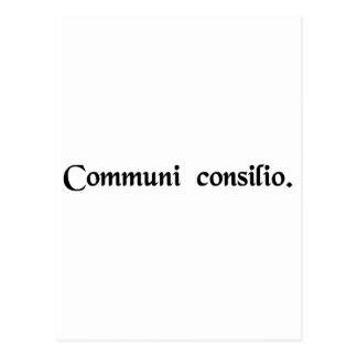 By common consent postcard