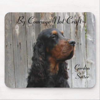 By Courage Not Craft, Gordon Setter Mousepad