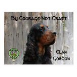 By Courage Not Craft, Gordon Setter Postcard