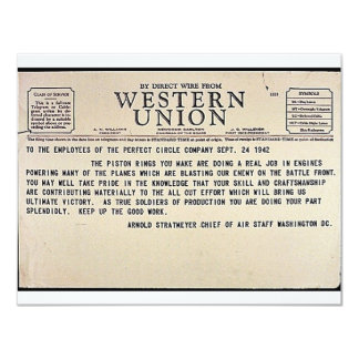 By Direct Wire From Western Union Card