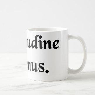By endurance we conquer. coffee mug