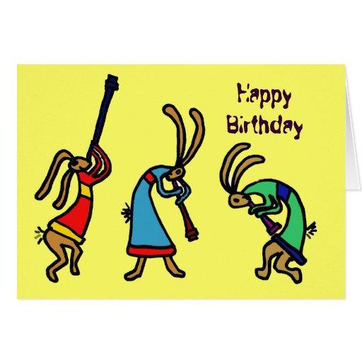 BY- Funny Birthday Dancing Bunny Card