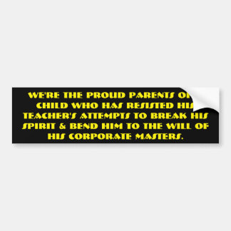 By George - He's got a point! Bumper Sticker