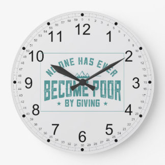 By Giving Large Clock