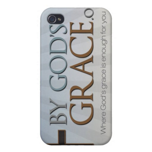 By God's Grace Collection Covers For iPhone 4
