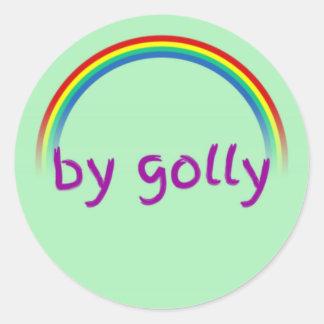By Golly Classic Round Sticker, Glossy Classic Round Sticker