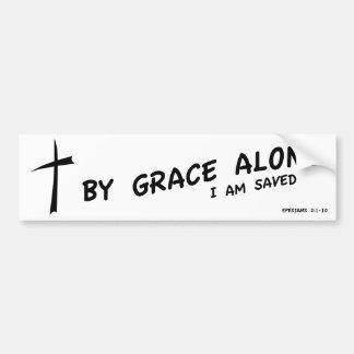 By Grace Alone Car Bumper Sticker