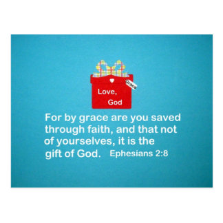 By Grace are You Saved Postcard