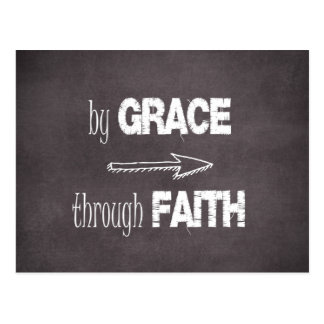 By Grace Through Faith Bible Verse Postcard
