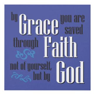 By Grace Through Faith Panel Wall Art